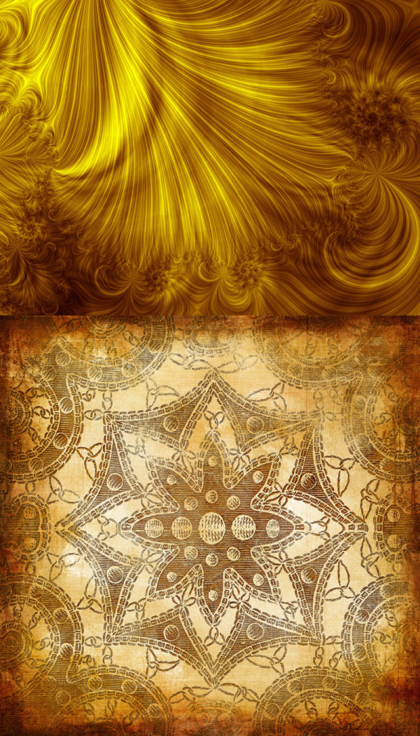 HD picture old gold flower texture-2