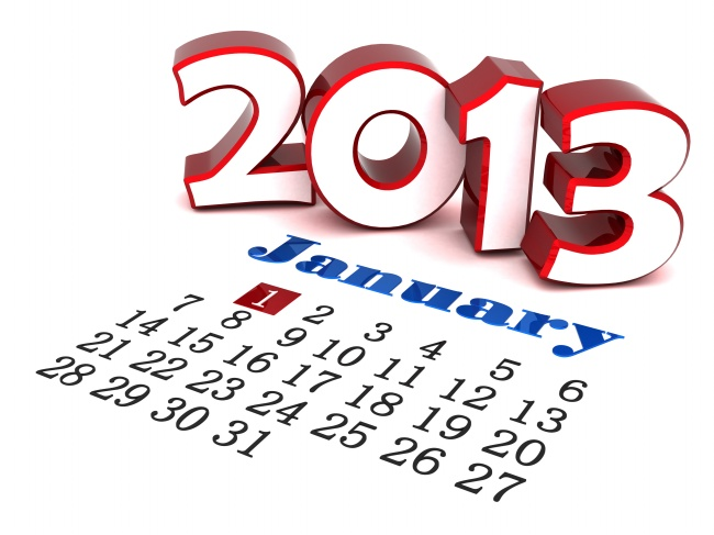 January 2013 calendar pictures
