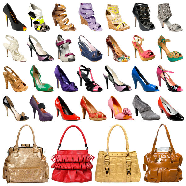 Ladies Shoes and sachet  -HD pictures
