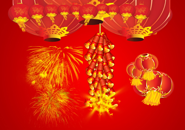 New year Spring Festival lantern pictures download