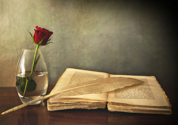 Old books and roses 05-HD pictures