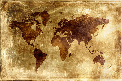 Old world map background picture material