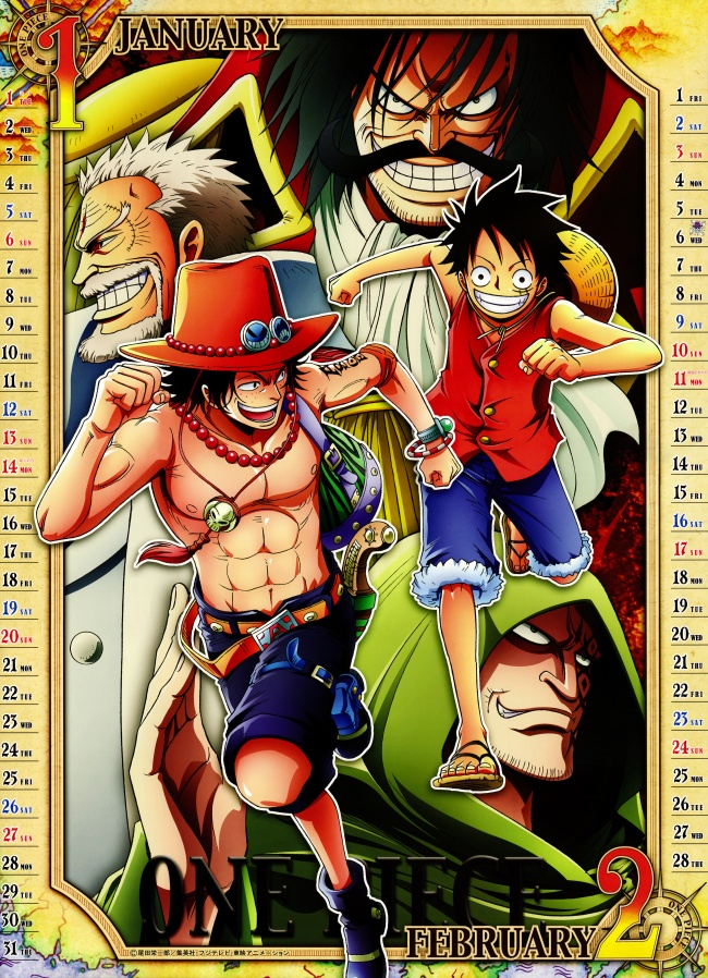 One piece picture 2013 calendar