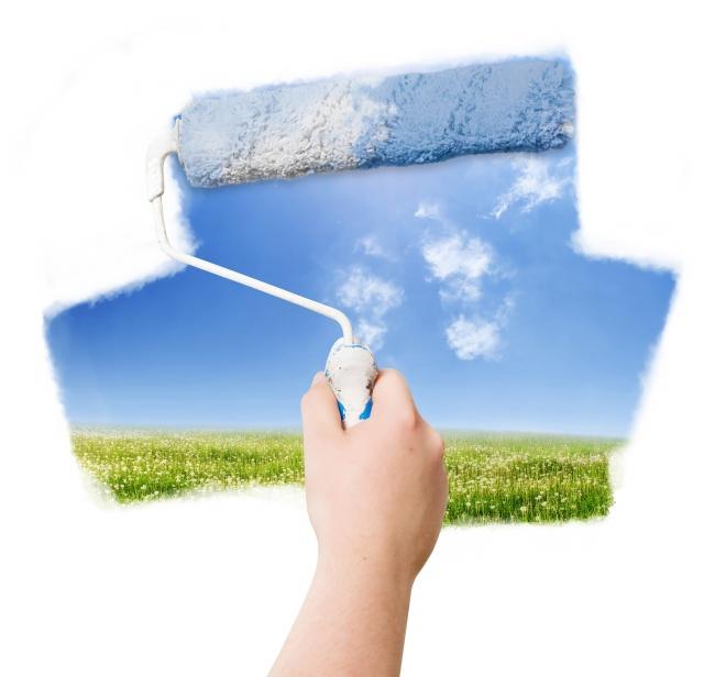 Paint brush landscape picture download