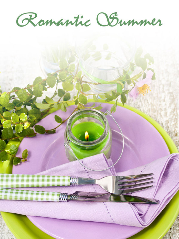 Pastoral style tableware pictures 04-HD pictures