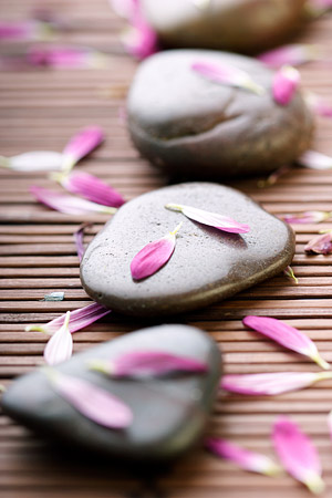 Petals and stones picture material
