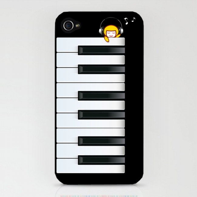 Piano-mobile phone cover picture