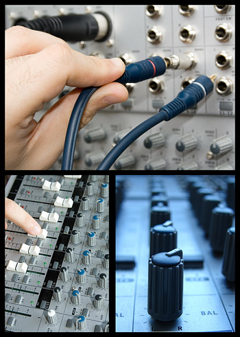 Recording console picture material
