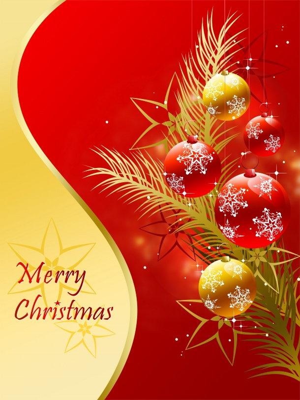 Red Christmas background pictures to download