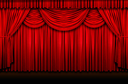 Red Curtain quality picture material
