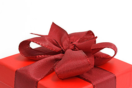 Red gift box local picture material