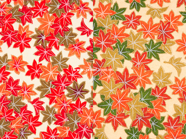 Red-Green Maple Leaf Chinese Restaurant HD wallpaper background picture (2P)