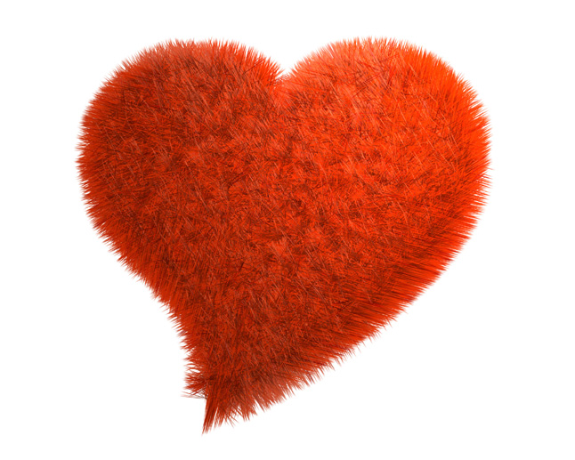 Red plush heart-shaped picture download