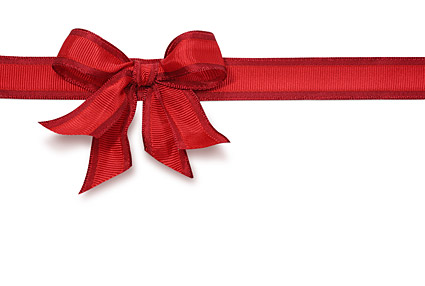 Red Ribbon bow picture material