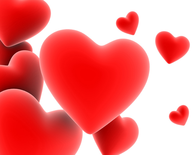 Red solid heart-shaped picture download
