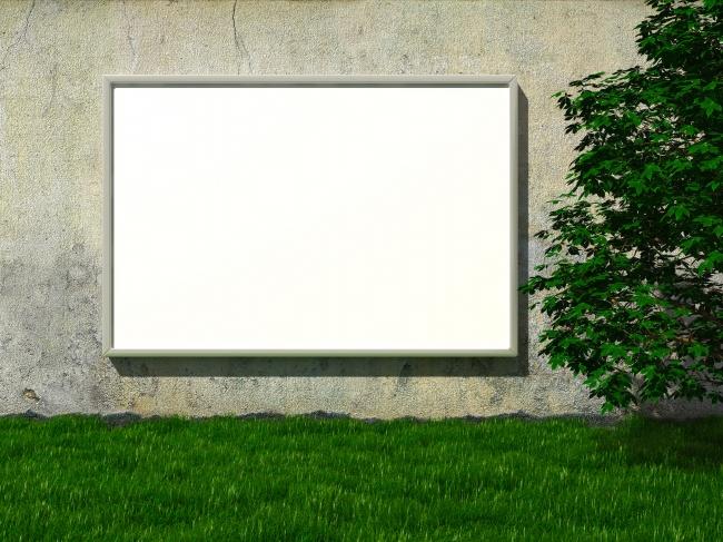 Roadside walls blank Billboard pictures