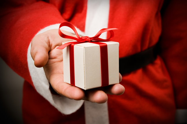 Santa Claus gift pictures