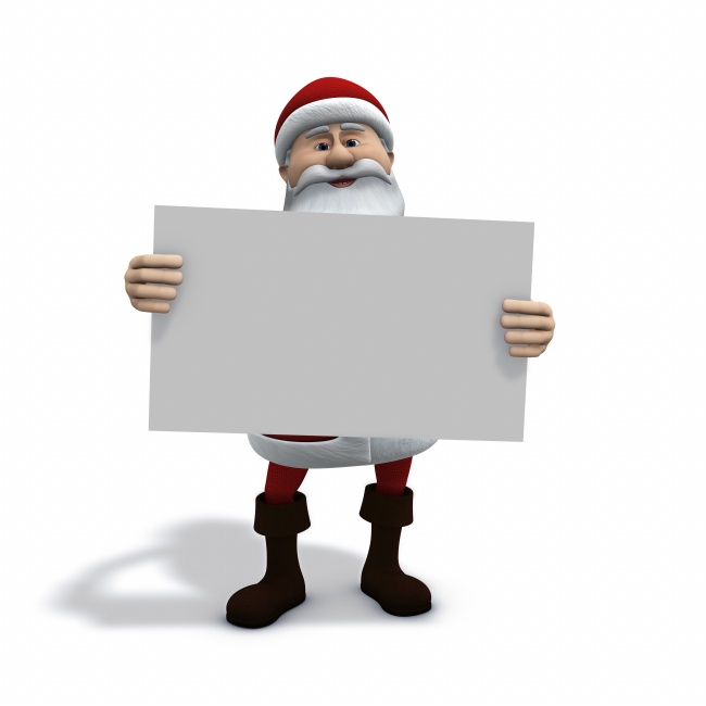 Santa Claus holding a sign pictures