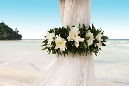 Seaside romantic wedding picture material-1