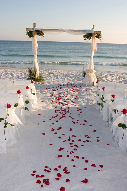 Seaside romantic wedding picture material-2