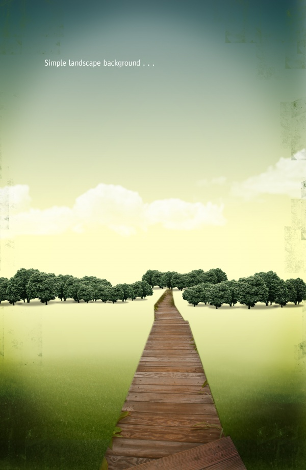 simple landscape backgrounds psd material