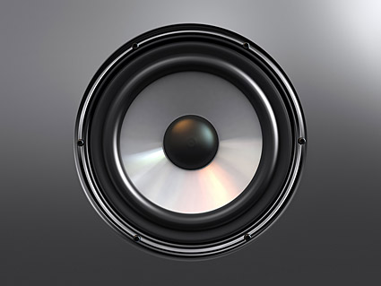 Sound speakers picture material