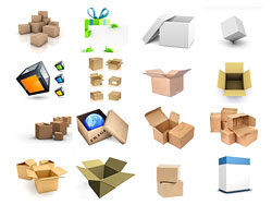 16 3D blank box cardboard box HD pictures