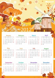 2012 calendar desktop picture