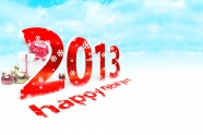 2013 new year creative fonts HD pictures