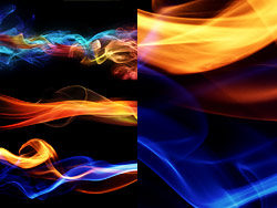 3 beautiful colours of smoke HD pictures
