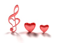 3D heart-shaped note picture download