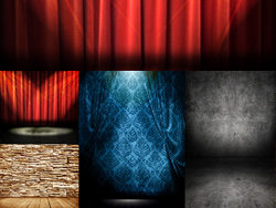 4 curtain stage HD picture material