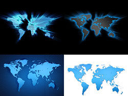 4 world map background high definition pictures
