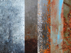 5 rusty Tin material HD pictures