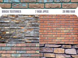 7 high resolution brick wall texture pattern