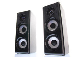 A pair of speakers picture material
