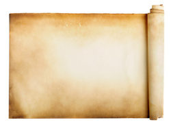 A roll of brown paper picture material