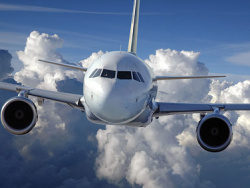 Aircraft in flight picture material-3