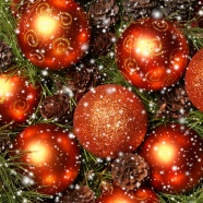 Ball Christmas decoration HD Photo