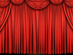 Beautiful red curtain picture material