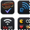 Black'UPS Icons for iPod
