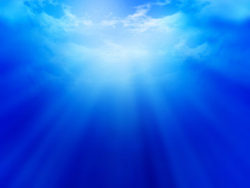 Blue background picture material-3