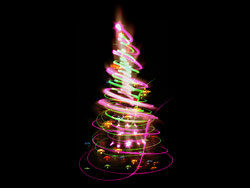 Bright glow Christmas tree 01–HD pictures