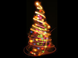 Bright glow Christmas tree 02–HD pictures
