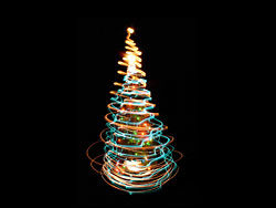 Bright glow Christmas tree 04–HD pictures