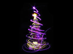 Bright glow Christmas tree 05–HD pictures