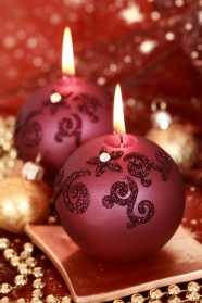 Candle Christmas decoration HD Photo