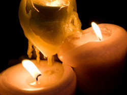 Candle picture material-3