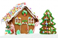 Candy house picture material download
