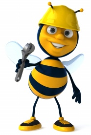 Cartoon bee workers pictures